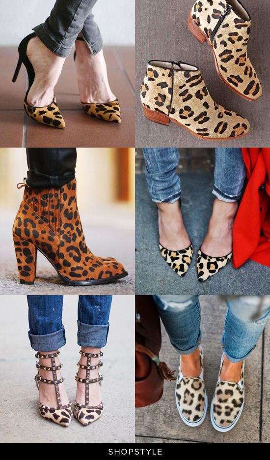 The perfect collection of leopard-print heels, booties, flats, and slip ons.