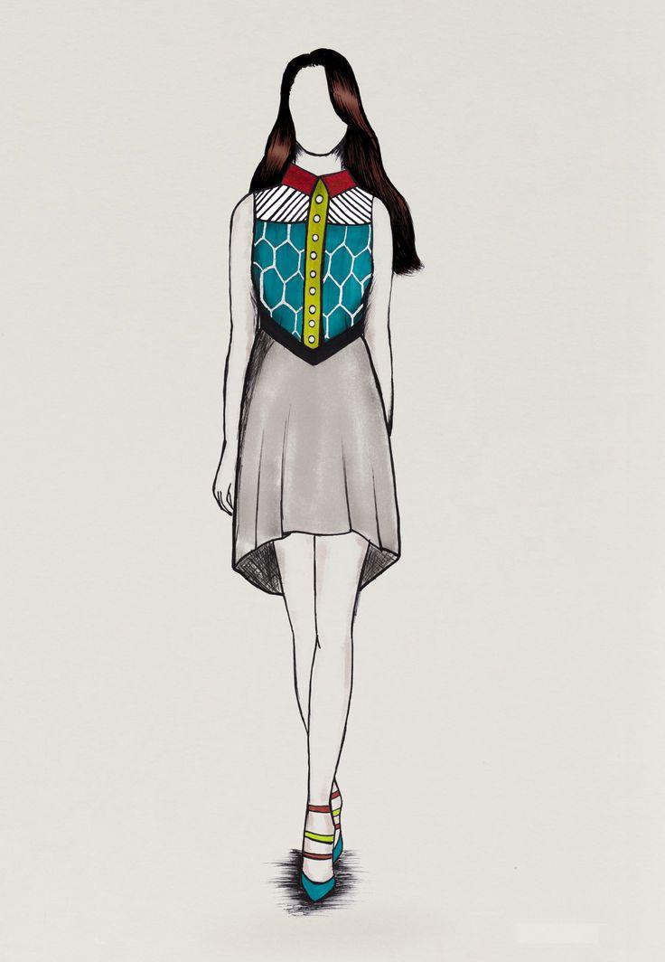 17 best images about styliste on pinterest fashion sketches croquis and london - Model de dessin ...