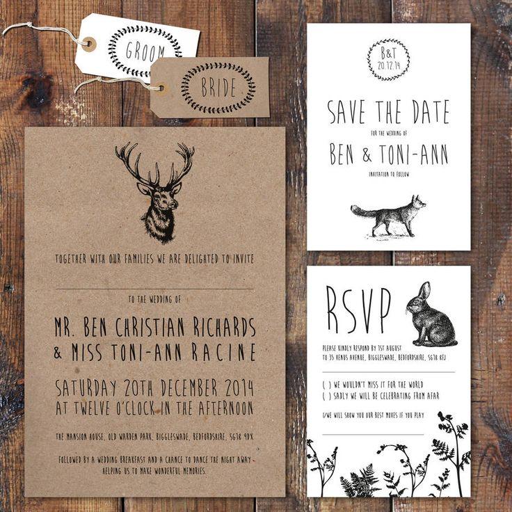 Enchanted Forest Wedding Invitation And Stationery