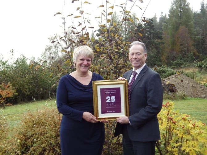 Sally Dowden is pictured with Scott Armstrong    Edinburgh, Scotland, 2016-Nov-16 — /Travel PR News/ — A wildlife tourism company in the H