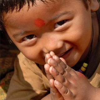 Greetings from a little Buddhist boy