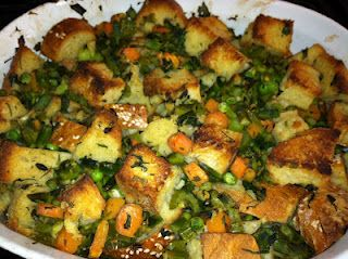 Vegan Spring Stuffing!  Perfect for Easter dinner!