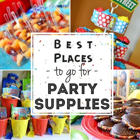 Stores and websites to go to for good, CHEAP party supplies!