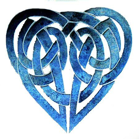 Celtic knotwork heart