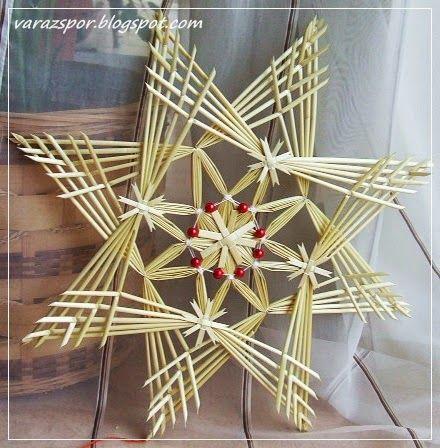 Varázspor: Estrella de la paja Creación - decoración Puerta grande