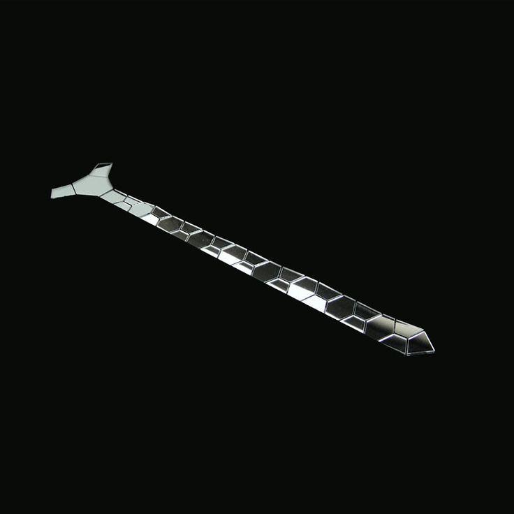 ==> [Free Shipping] Buy Best GEOMETIE Handmade Silver Skinny Hexagonal tie Honeycomb Shape Necktie for Men Fashion Wedding Accessory Fashion Jewelry Online with LOWEST Price | 32806831212