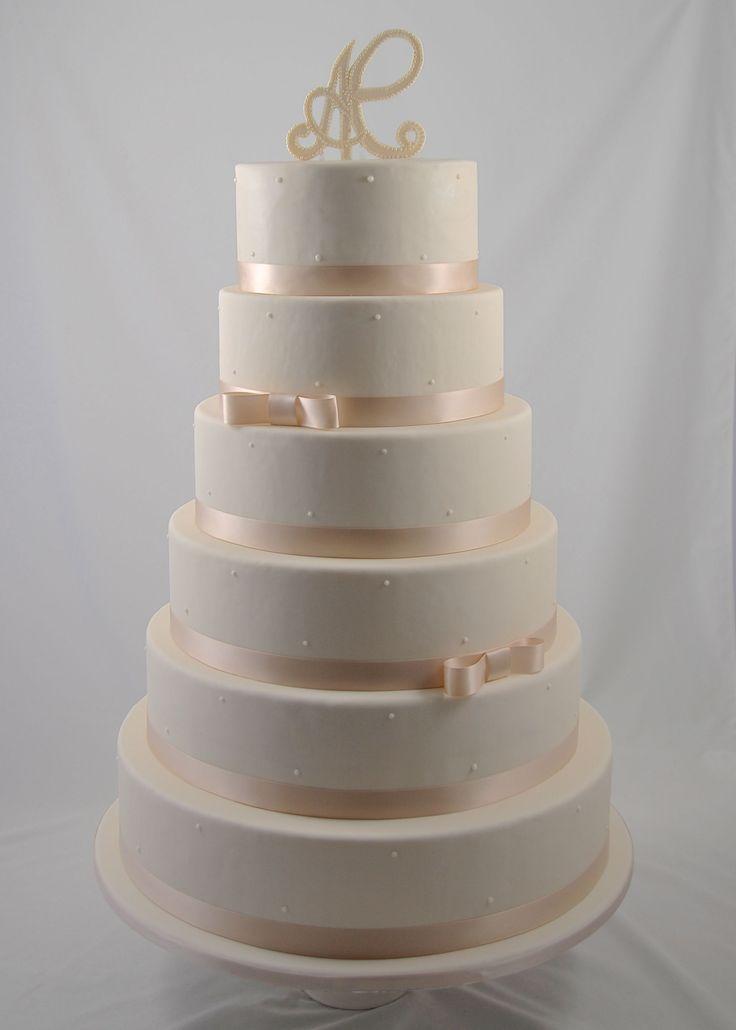 wedding cake white pearls piece montee mariage perles blanches bruidstaart - Piece Montee Mariage