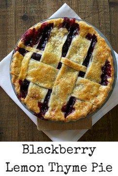 Blackberry Lemon Thyme Pie Recipe