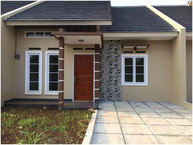 Model desain rumah minimalis 1 lantai Warna Krem Cokelat ...
