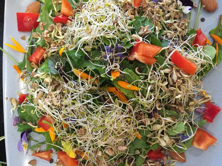 8. Add #raw vegetables such as #tomatoes and #red pepper.