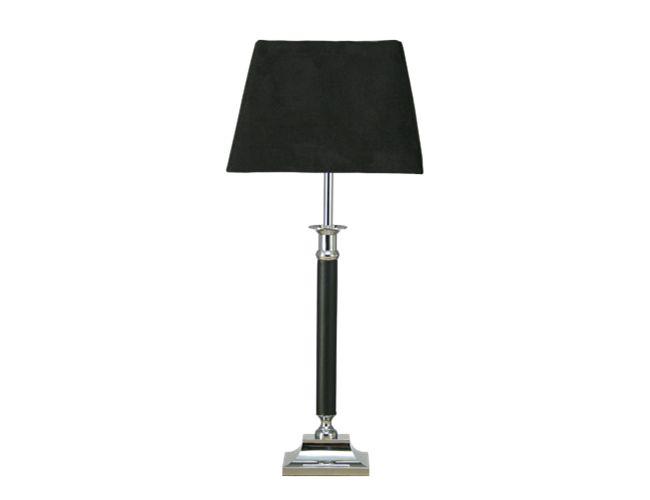 Aneta - KOLONN bordl. hög krom/sv 40W E14, H550