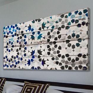 Parvez Taj Menara Reclaimed White Barn Siding Wood Art   2Modern Furniture & Lighting