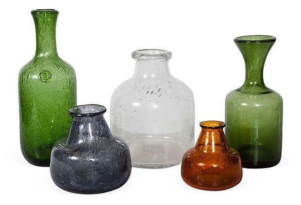Erik Hoglund Bottles, Set of 5 on OneKingsLane.com