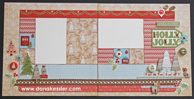 Two Page Winter Scrapbook Layout White PInes Christmas Holidays Snow #ctmhwhitepines #scrapbooking #cricutexplore #scraptabulousdesigns
