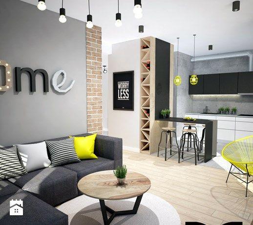Salon styl Industrialny - zdjęcie od Mart-Design Architektura Wnętrz