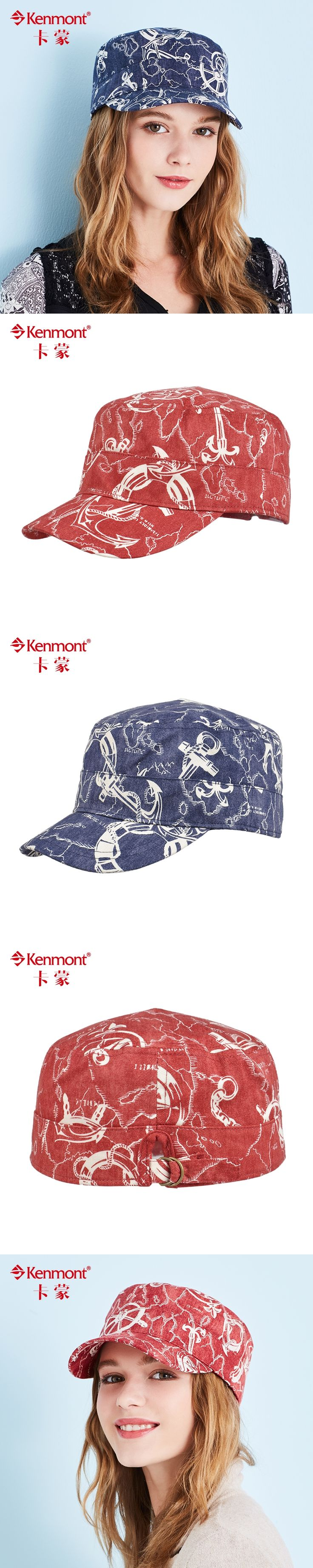 Kenmont summer sunshade hat flatcap male cotton fashion tourism cap repair face female peaked cap