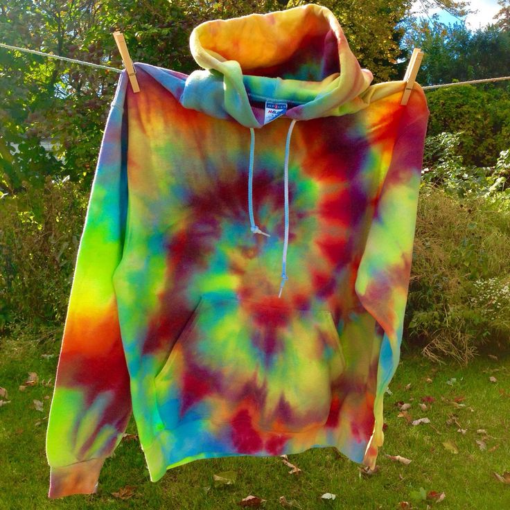 Custom made to order tie dye hoodies! Get your very own one of a kind tie dye hoodie in ANY color combo you'd like for only $48  at Beach Bum Boutique on Etsy https://www.etsy.com/listing/252154809/tie-dye-hoodie-rainbow-spiral-tie-dye