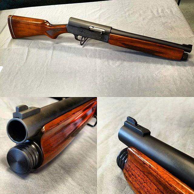 "Got the new shopkeeper all finished. Remington model 11. 12.5"" bbl #remington #shotgun #sbs #semiauto #shorty #guns #gunsdaily #gunstore #nfa #nfaaf #freedom #america #gunsmith"