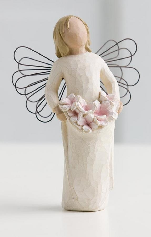Willow Tree Angel Of Spring Figurine 26074. Bearing the promise of new beginnings.   Willow Tree - Already on the mantlepiece