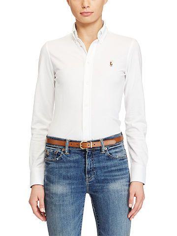 Polo Ralph Lauren Knit Cotton Oxford Shirt - Polo Ralph Lauren Long Sleeve - Ralph Lauren France