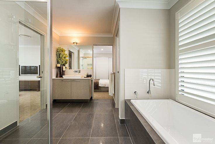 Three-way bathroom in the Milan by Stylemaster Homes