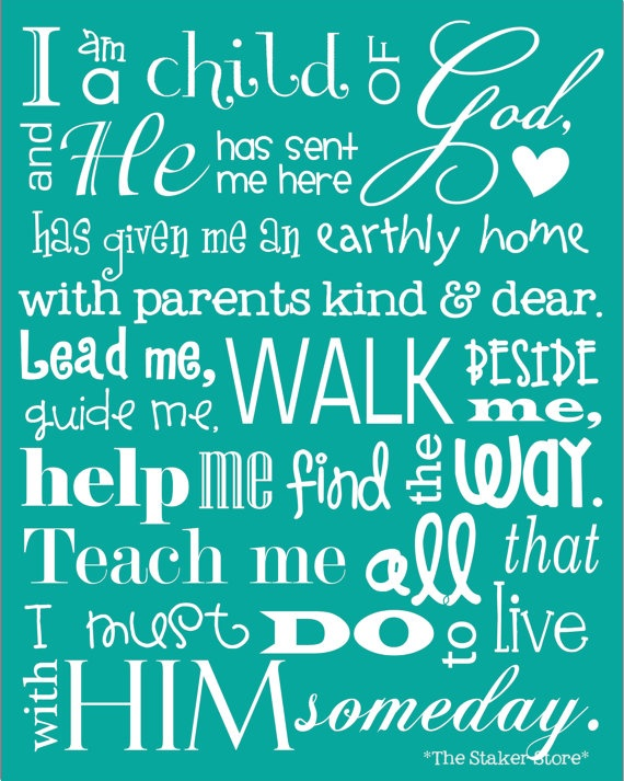 I Am a Child of God 11x14 print by TheStakerStore on Etsy - customized subway art