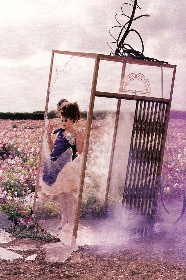TALES OF THE UNEXPECTED   Helena Bonham Carter in Alexander McQueen by Tim Walker for Vogue UK