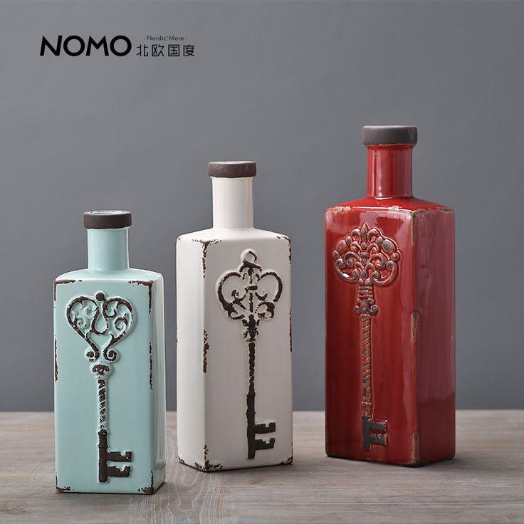 Nomo садлер небольшой прямоугольный рот ваза ключевые творческие украшения американский ретро сделать старый керамическая ваза стол, принадлежащий категории Вазы и относящийся к Для дома и сада на сайте AliExpress.com | Alibaba Group