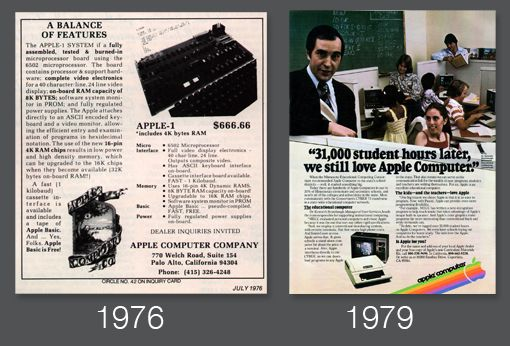 The evolution of Apple's design style