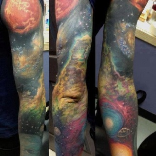 Cosmic tattoo from the Science pics site OMFG WANT!!!!!!!!!!!!