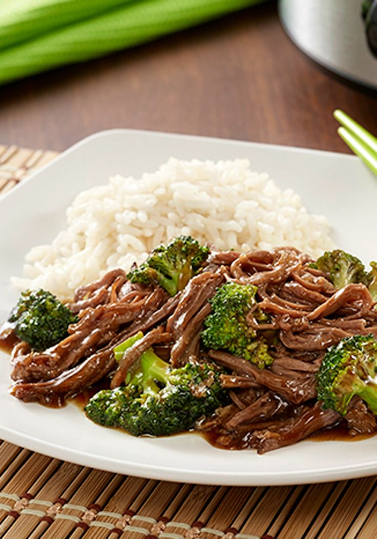 15 minutes of prep in the morning and this delicious Slow Cooker Beef and Broccoli will be ready for dinner tonight!
