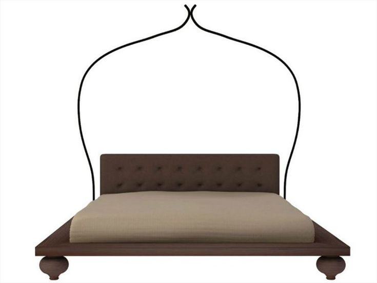 Agadir - Padded bed with headboard formed of 4 pillows.