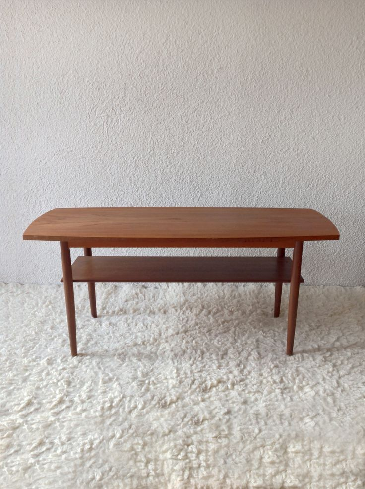 teak coffee table ('60-Denmark) www.vadevintage.com