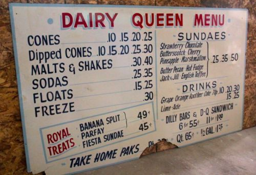 RARE Antique Dairy Queen Menu Sign Reader Board $899 OBO | eBay