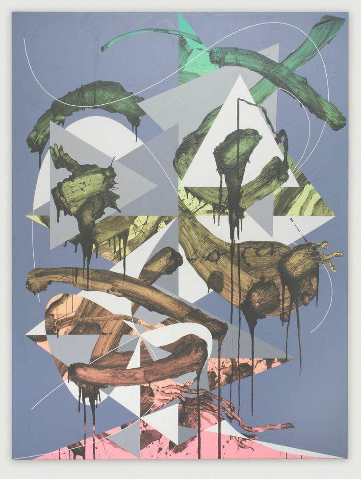 Luke Rudolf, Portrait No.38, 2012,  Acrylic on canvas,  220 cm x 165 cm