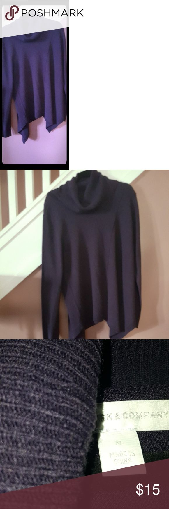 Plus Size Dark Purple Turtle Neck Sweater Plus Size Turtle Neck Sweater, asimetrical at the bottom.New, never been wore but no tag. New York & Company Tops Sweatshirts & Hoodies