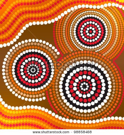 Aboriginal Symbols | Australia Aboriginal Art Vector Background - 98858468 : Shutterstock