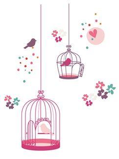Stickers fille thème paradise bird  - vertbaudet enfant