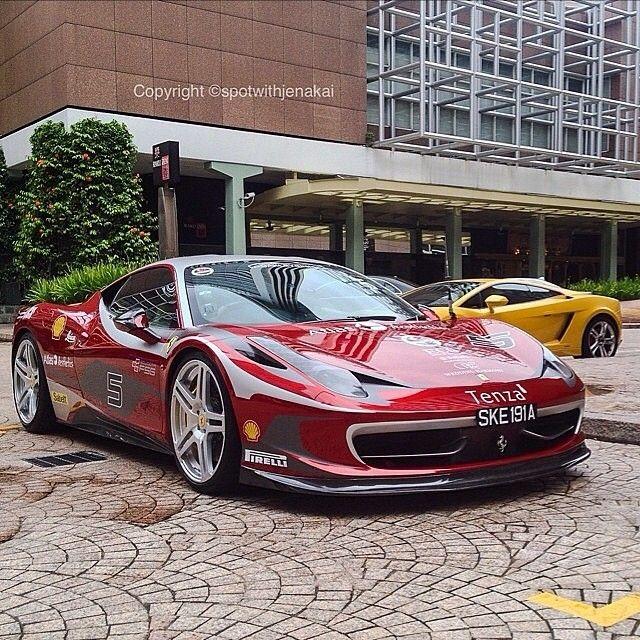 #Ferrari458 #Car #LuxuryVehicle #AutomotiveDesign Ferrari, Street, Performance car, Wheel - Follow @extremegentleman for more pics like this!