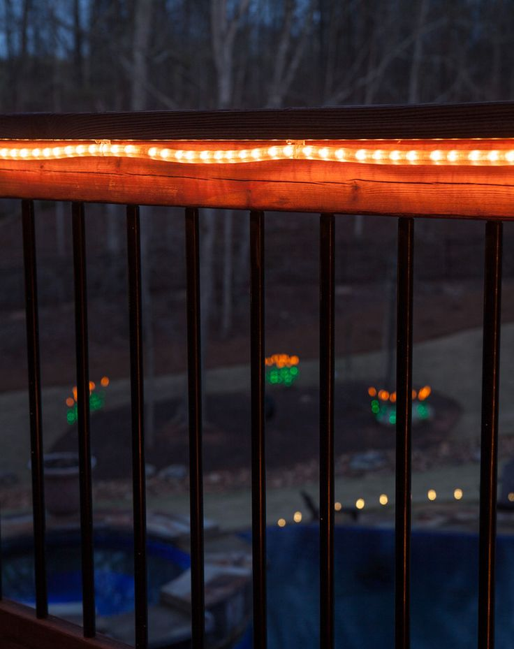 Best Rope Lights For Deck : Best outdoor deck lighting ideas on trex decking stairs and patio