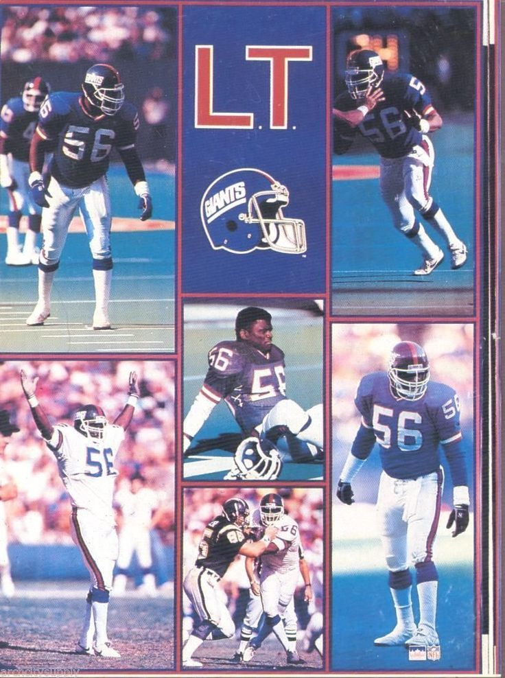 """Lawrence Taylor New York Giants Giant Poster 42"""" X 58"""""""