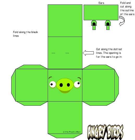 Angry Birds 3D foldable shapes | Printables | Pinterest