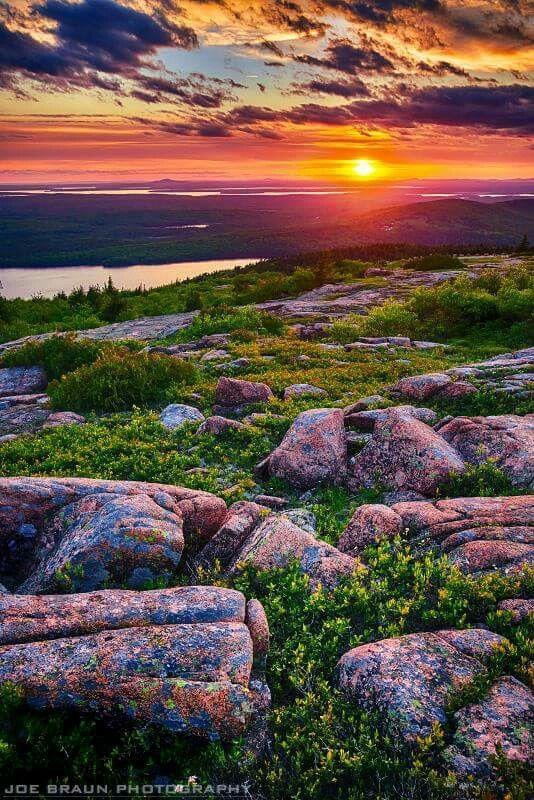 Cadillac Mountain in Acadia National Park, Maine