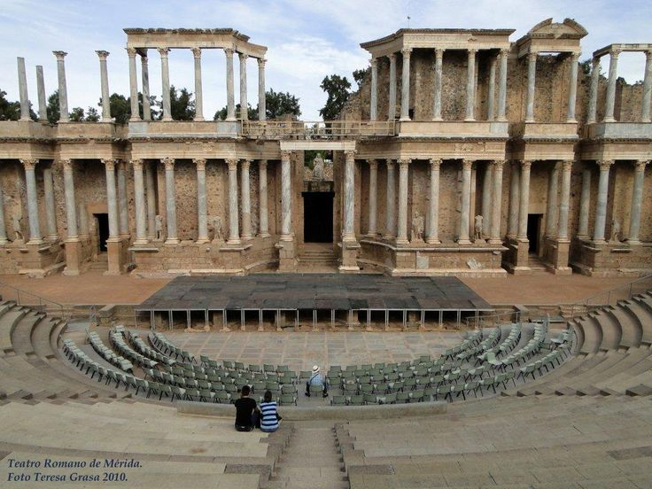 The Roman theater at Merida, Extremadura - Spain