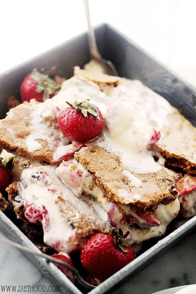 Homemade Strawberry Ice Cream Cookie Sandwiches | www.diethood.com