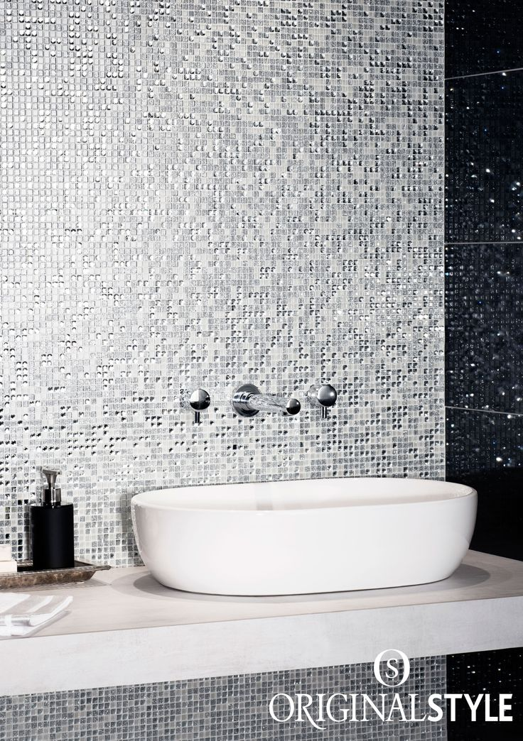 Lighten up dark corners of bathroom and kitchens with light reflecting surfaces with these Taj mosaics. Add decadence and luxury to your bathroom with these shining wall tiles.
