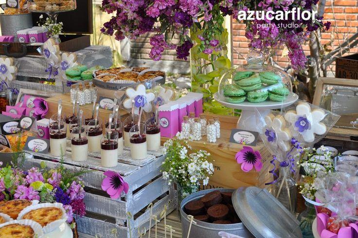 Azucar flor party studio mesa de dulces vintage candy for Mesa de dulces para 15