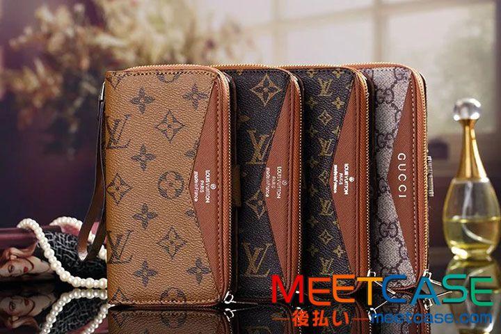 高級 財布型 iPhone7ケース ブランド ヴィトン iphone7plusケース 手帳 グッチ バーバリー アイフォン6s plus携帯ケース ミラー付き アイホーン6ケース カード入れ ストラップ付き 大容量