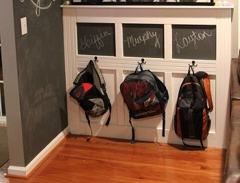 The Backpack Wall – No More Backpacks on the Floor! Also use chalkboard for assignments due