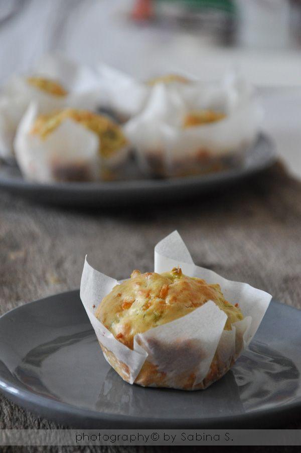 Due bionde in cucina: Muffin al farro con porri ed emmental